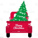 Red Christmas Truck With Tree Stock Illustration Download Image Now Istock