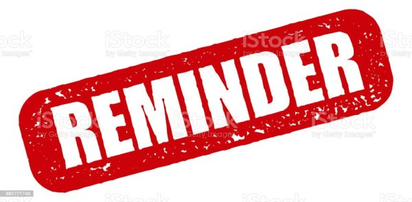 Reminder Red Rubber Stamp Icon On Transparent Background ...