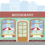 Restaurant Street Cafe Shop Vector Illustration In Flat Design Stock Illustration Download Image Now Istock