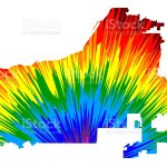 Riverside City Map Is Designed Rainbow Abstract Colorful Pattern City Of Riverside Map Made Of Color Explosion Stock Illustration Download Image Now Istock