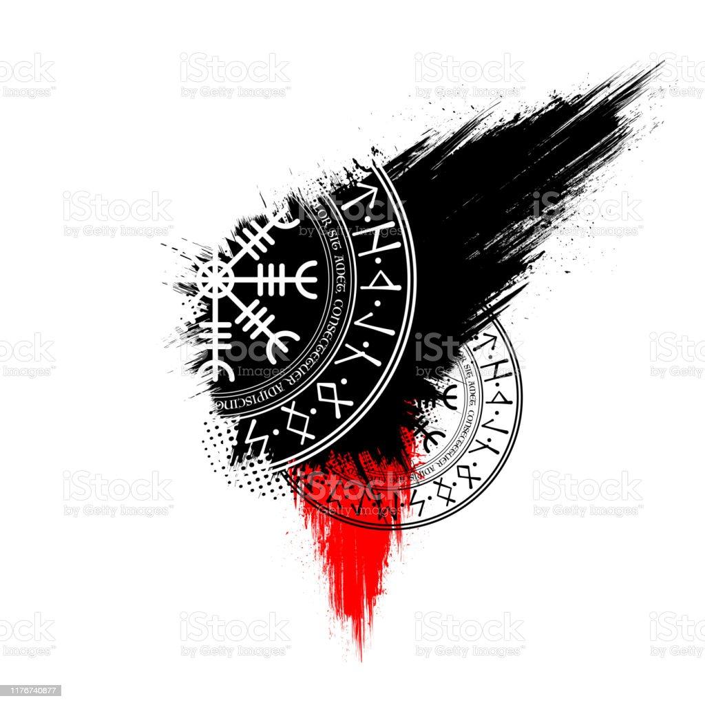 fond decran scandinave de symboles de grunge vecteurs libres de droits et plus d images vectorielles de antique istock