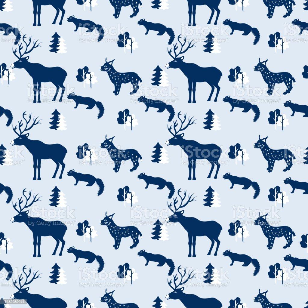 https www istockphoto com fr vectoriel motif animal sauvage sans soudure illustration de vecteur de voyage de dessin gm1132089211 299977140