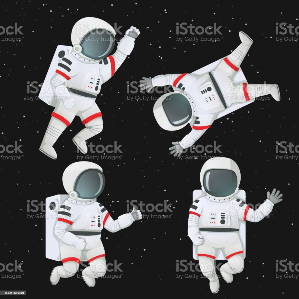 Best Astronaut Floating In Space Illustrations Royalty