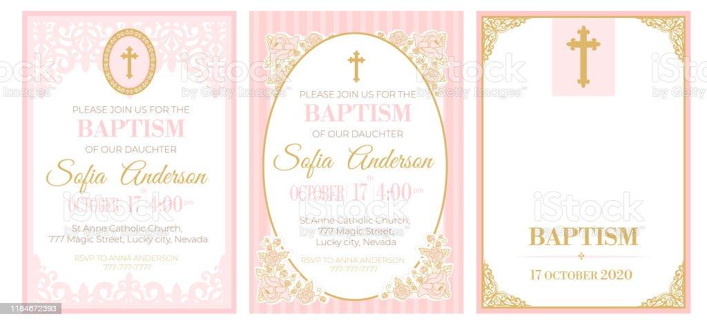 baptism invitation free vector art 62 free downloads