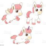Set Of Magic Horses Unicorns And Pegasus Stock Illustration Download Image Now Istock