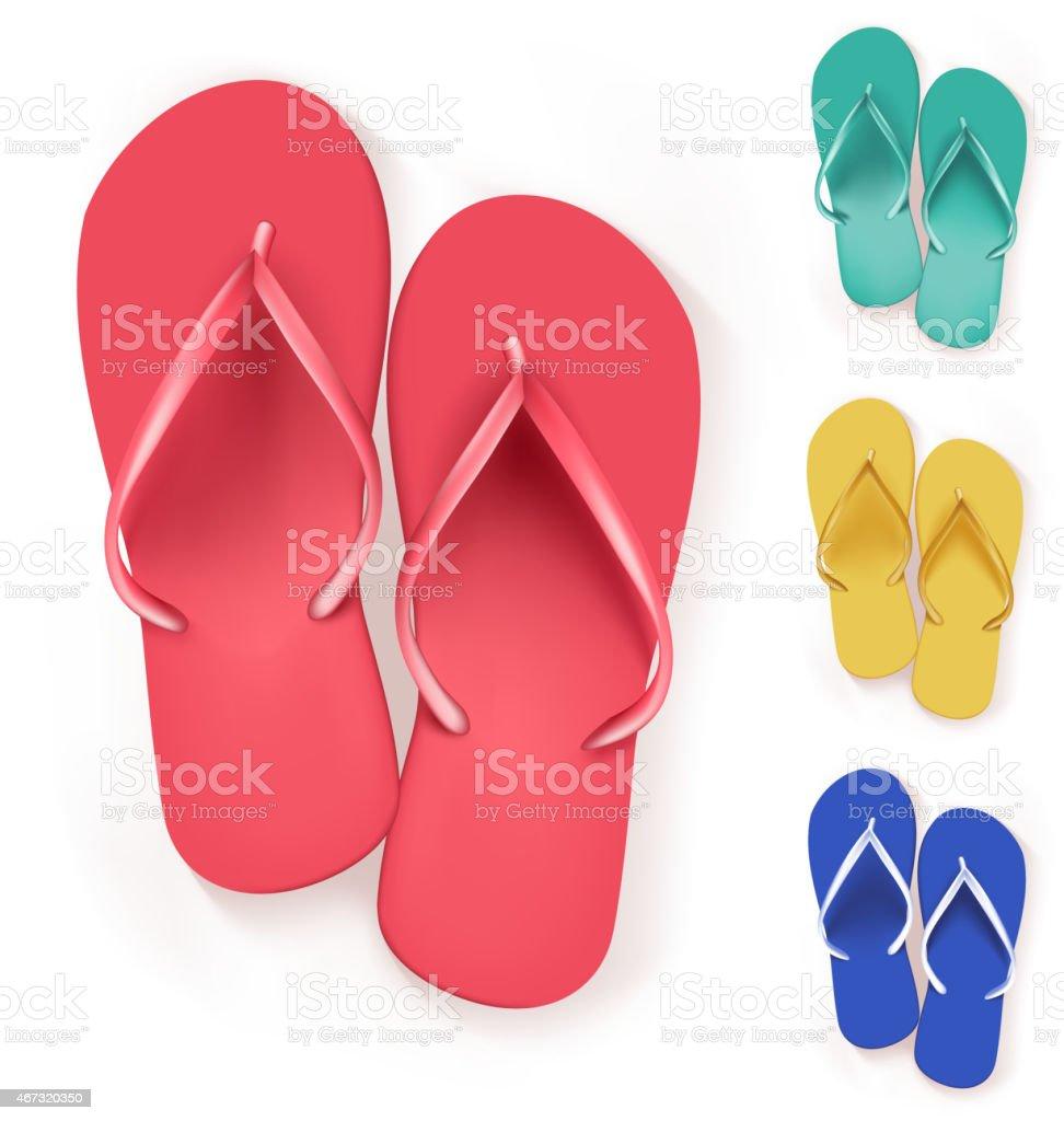 486540be21fa8c Royalty Free Flip Flops On White Clip Art