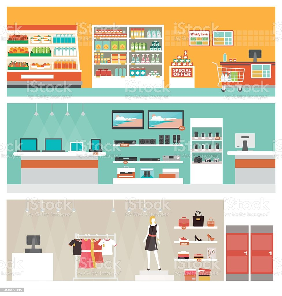 https www istockphoto com vector shops and stores banner set gm495377986 77957851