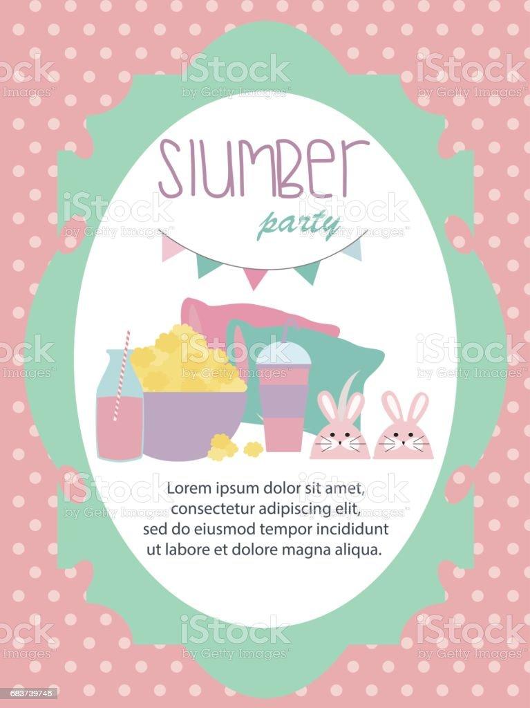 carte dinvitation soiree pyjama avec des elements mignons vecteurs libres de droits et plus d images vectorielles de affiche istock