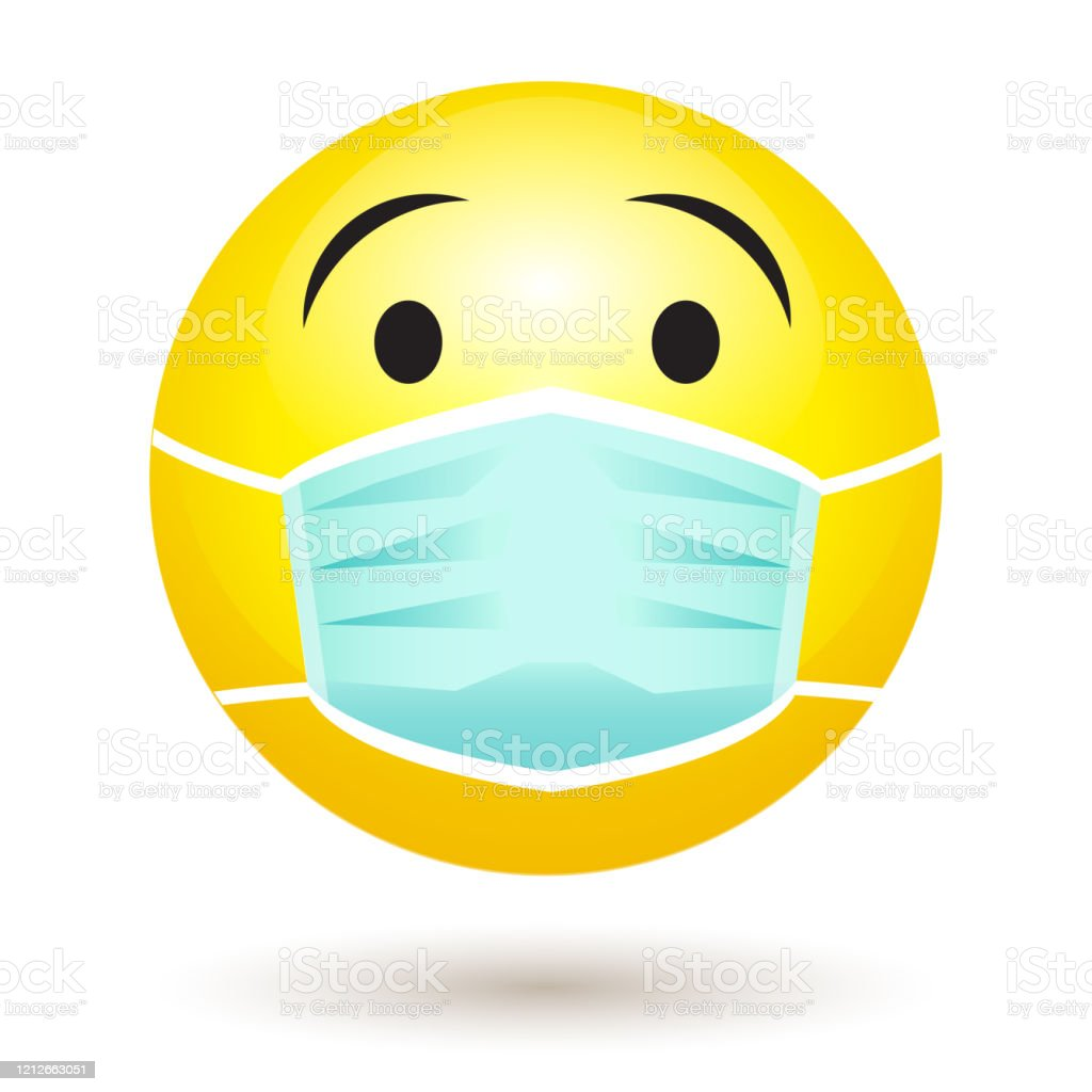 lacheln emoji mit einer schutzenden chirurgischen maske symbol fur coronavirusausbruch stock vektor art und mehr bilder von abstand halten infektionsvermeidung istock