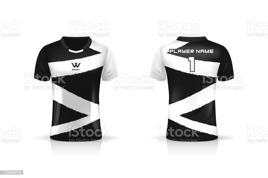 Today we bring you free sport jersey mockup provided by rahsia design. Specification Soccer Sport Esport Gaming T Shirt Jersey Template Mock Up Uniform Vector Illustration Design Stock Illustration Download Image Now Istock