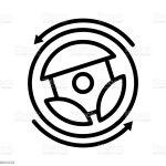Steering Wheel Vector Icon Stock Illustration Download Image Now Istock