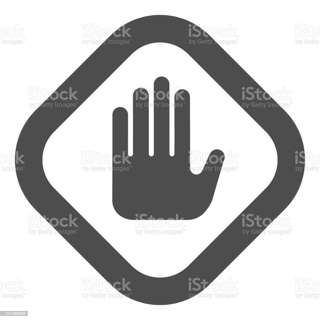 https www istockphoto com fr vectoriel arr c3 aater le geste de la main dans lic c3 b4ne solide de cadre attention et danger gm1214850859 353613011