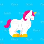 Strong Unicorn Isolated Powerful Magic Horse With Horn Stock Illustration Download Image Now Istock