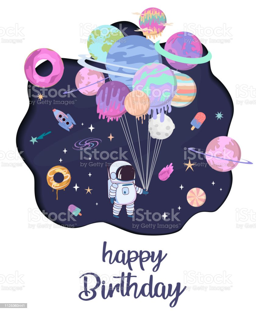 https www istockphoto com fr vectoriel affiche de dessin anim c3 a9 espace sucr c3 a9 avec biscuits de fantaisie au chocolat gm1125363441 295805345