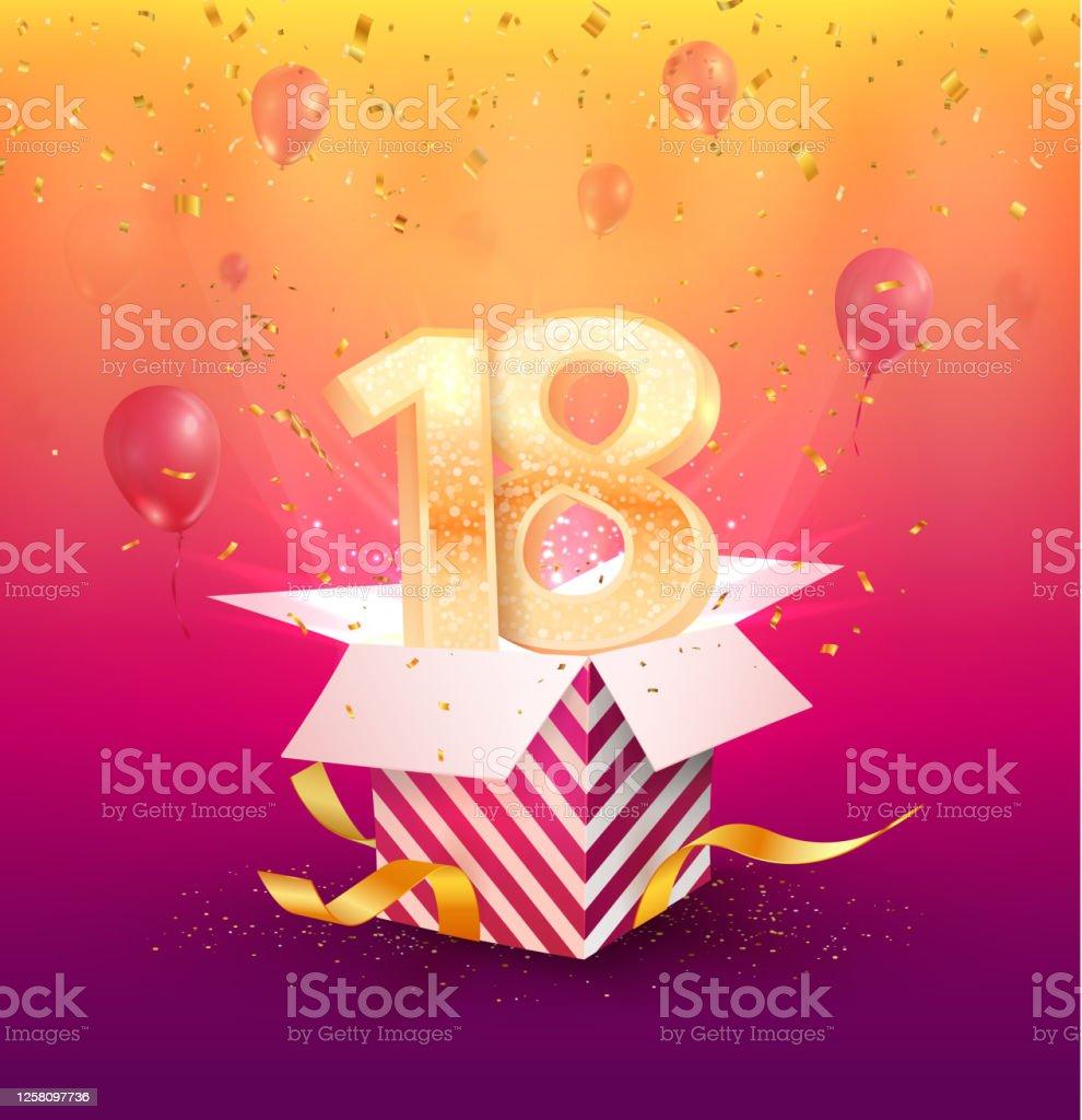 happy 18th birthday free vector art 7 free downloads