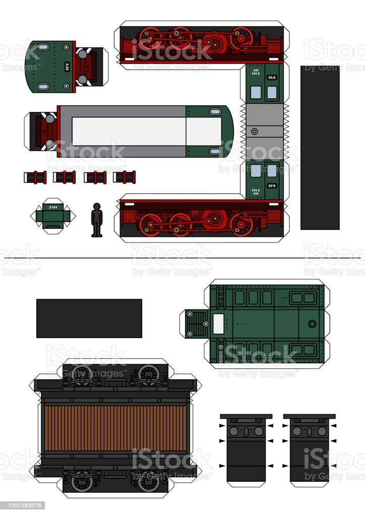 Drs nuclear flask train papercraft. The Paper Model Of A Historical Diesel Train Stock Illustration Download Image Now Istock