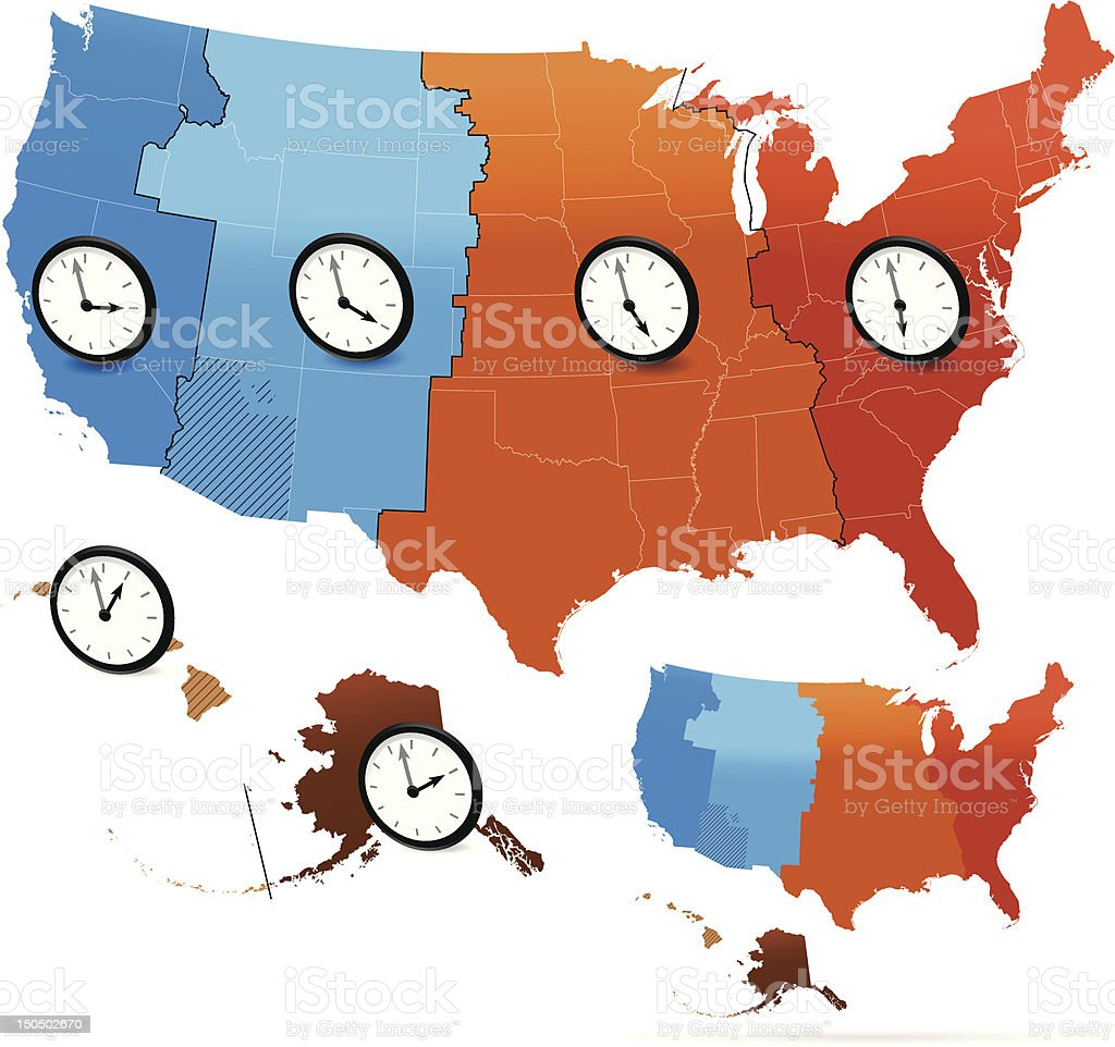 Georgia is in the eastern time zone. Time Zone Map Vector 107092 Vector Art At Vecteezy