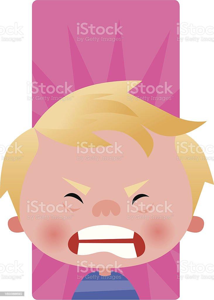 Toddler Temper Tantrum Clip Art