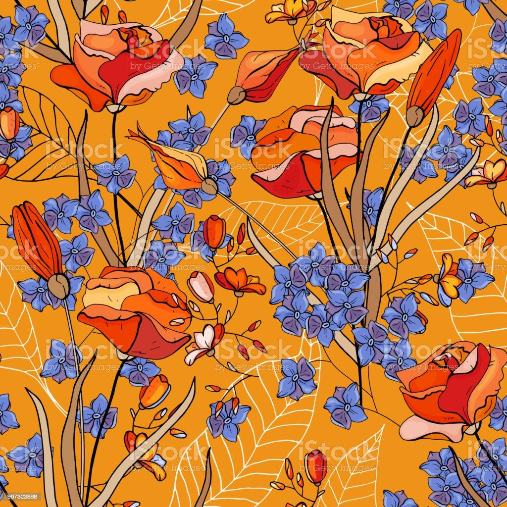 https www istockphoto com fr vectoriel mod c3 a8le de mode fleur transparente vintage fond fond d c3 a9cran floraison r c3 a9aliste gm967323898 263867611