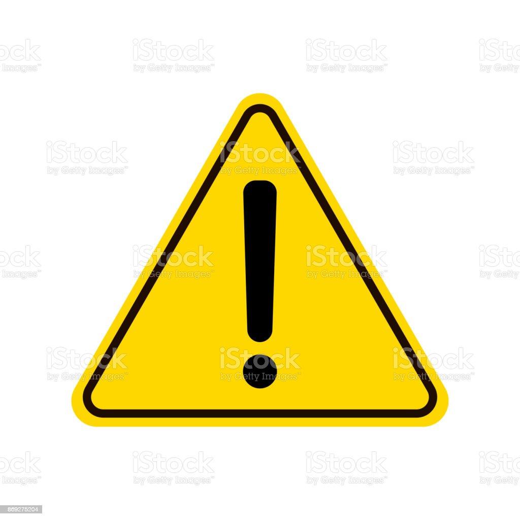 三角形警告符號驚嘆號警告 Roadsign 圖示危險警告注意標誌黃色背景向量圖形及更多三角形圖片 - iStock