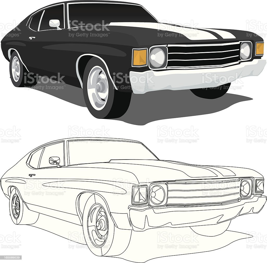 Vector Chevelle 1971 Stock Vector Art & More Images of