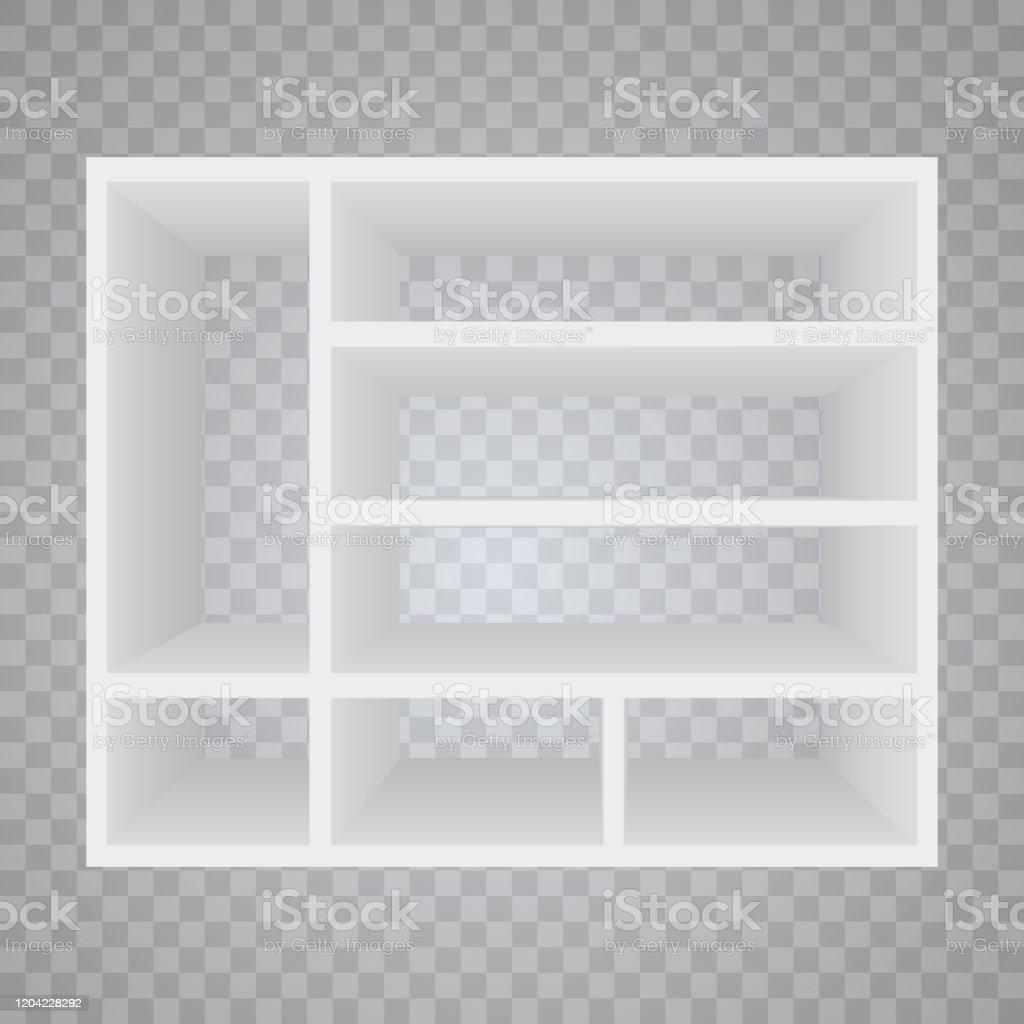 etageres en bois vides de vecteur disolement sur le fond de mur plateau pour les livres bibliotheque detageres education ecole illustration de vecteur vecteurs libres de droits et plus d images vectorielles de