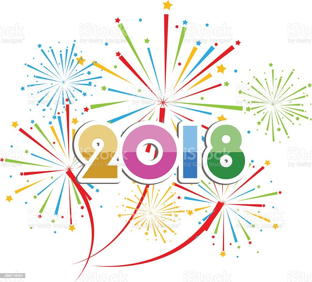 2018clip new year clip art