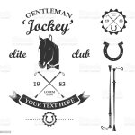 Vector Set Of Vintage Retro Horse Racing Club And Label Stock Illustration Download Image Now Istock