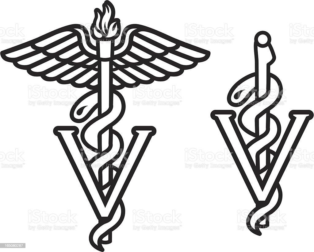 Veterinarian Caduceus Stock Vector Art & More Images Of