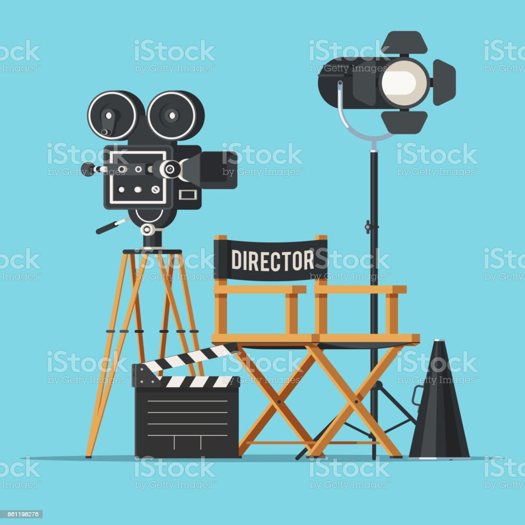 Best Film Director Illustrations, Royalty-Free Vector ...