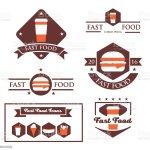 Ilustracion De Vintage Fast Food Restaurant Signs Y Mas Vectores Libres De Derechos De Abstracto Istock