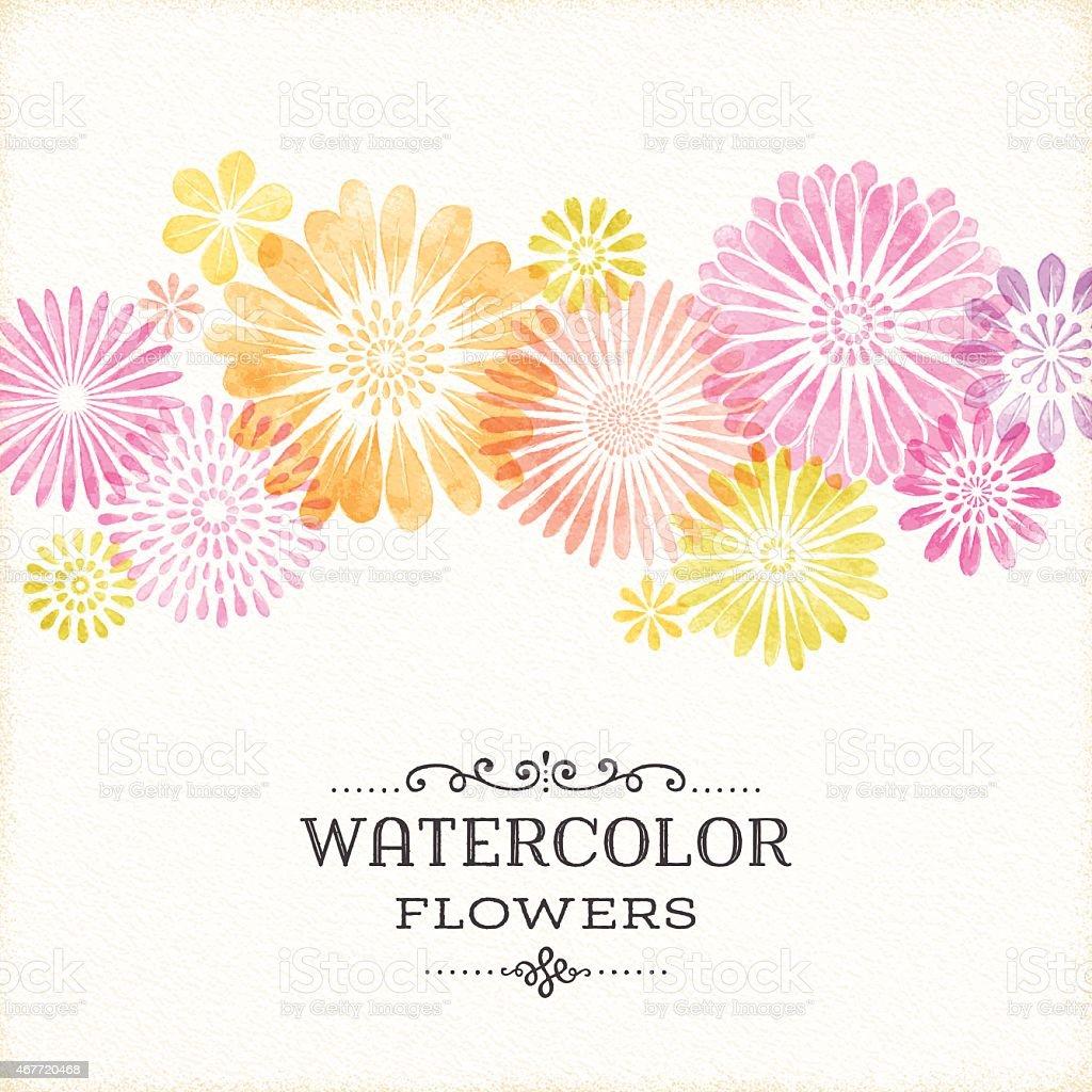 Watercolor Flower Art Clip Corner Border