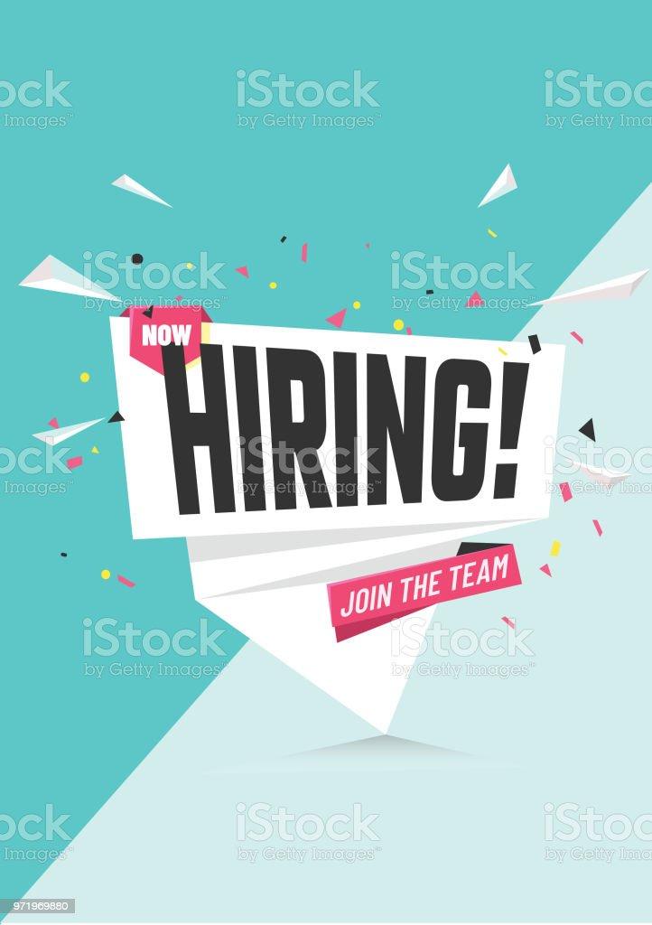 wir sind einstellung poster oder bannerdesign job vacancy werbung konzept stock vektor art und mehr bilder von anwerbung istock