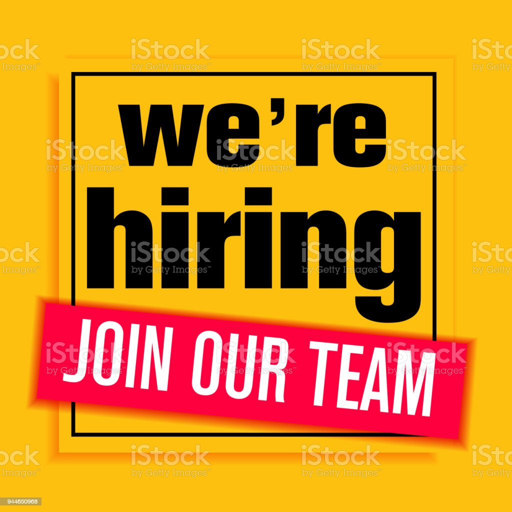 we are hiring poster or banner design stock illustration download image now istock
