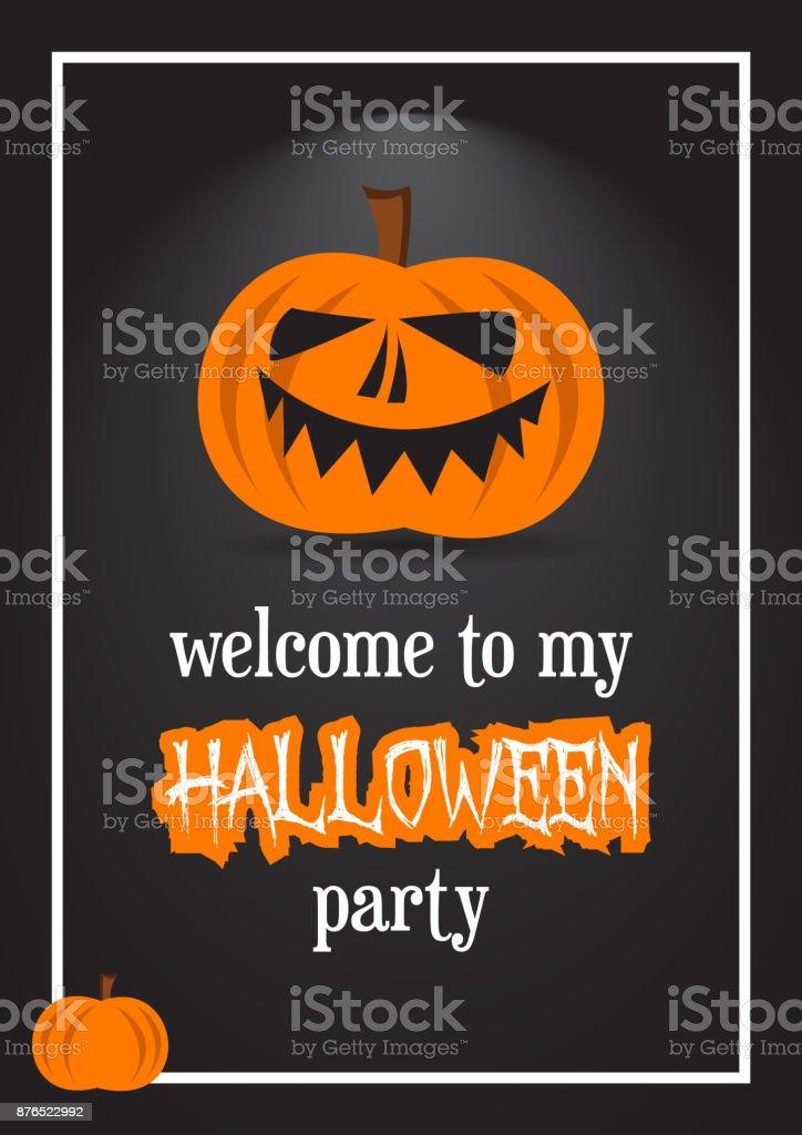 https www istockphoto com de vektor herzlich willkommen sie auf meiner halloween party einladung karte ferien design f c3 bcr gm876522992 244639732