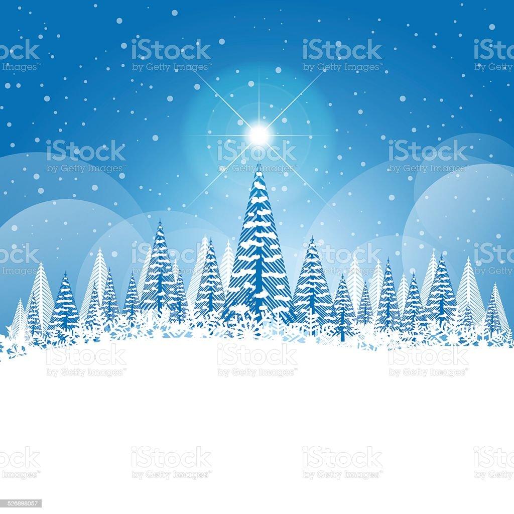 Visualizza altre idee su foto di natale, natale, immagini di natale. Inverno Paesaggio Di Natale Con La Neve E Gli Alberi Immagini Vettoriali Stock E Altre Immagini Di Natale Istock