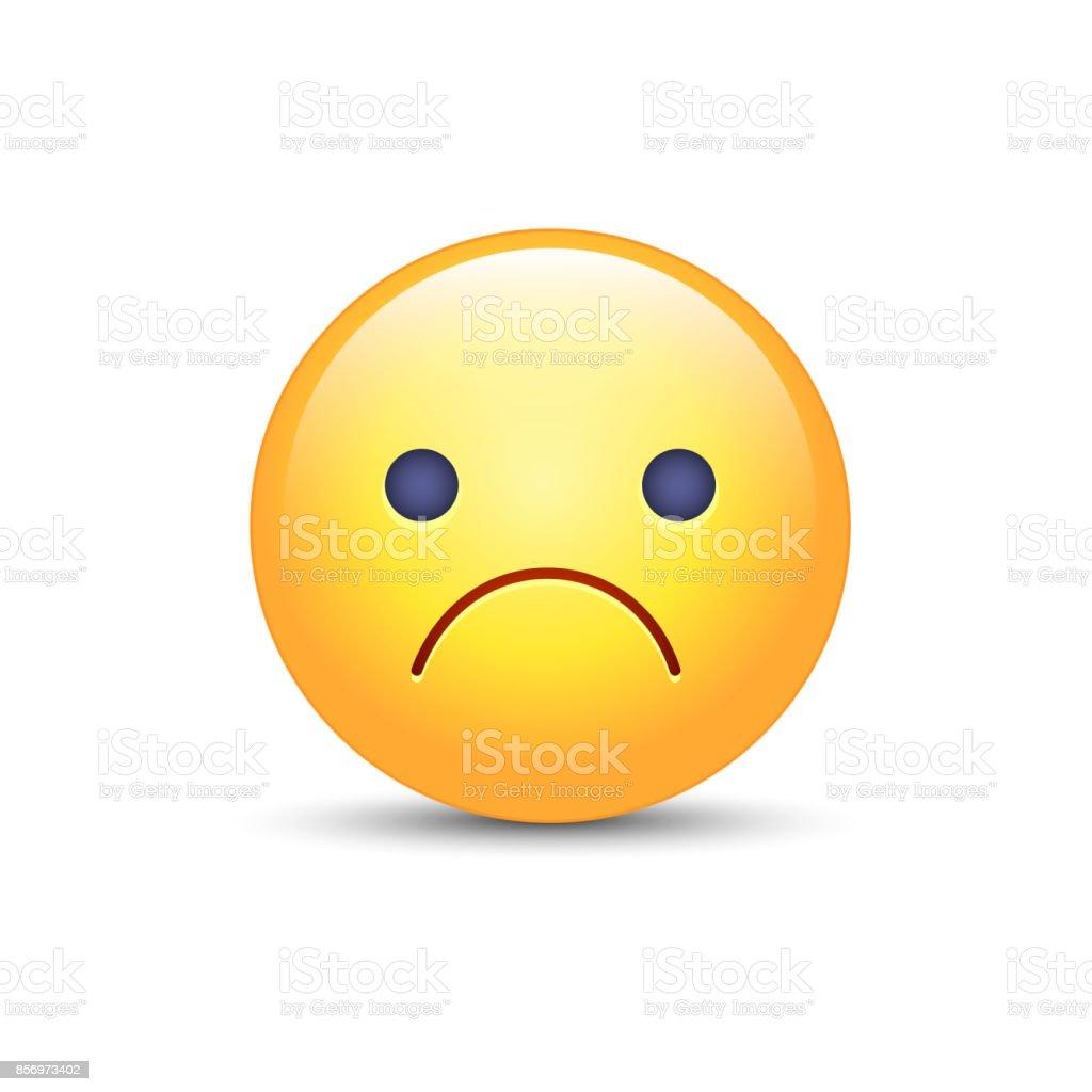擔心的向量卡通表情符號心情沮喪 苦惱 失望 憤怒和悲哀的表情符號不開心的笑臉皺著眉頭的臉向量圖形及更 ...