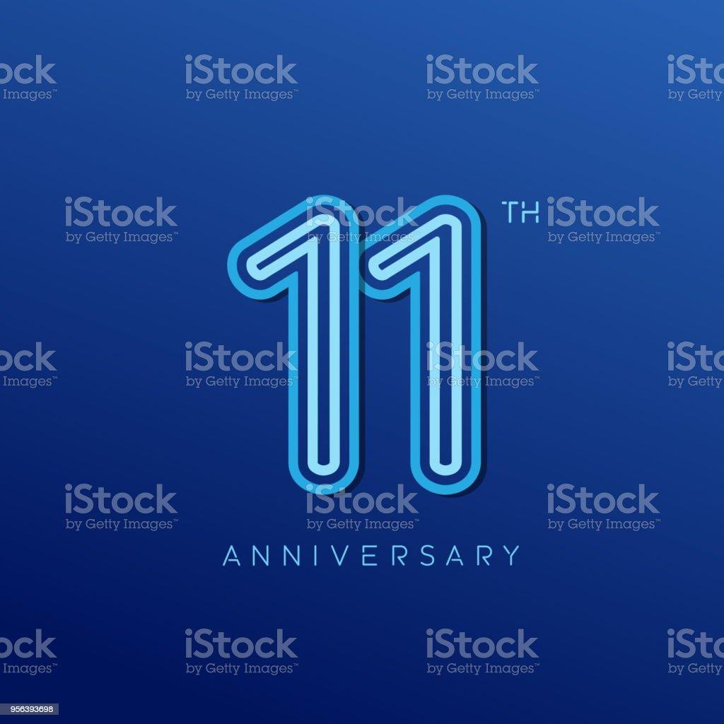 https www istockphoto com fr vectoriel logotype 11 ans anniversaire c c3 a9l c3 a9bration logo anniversaire avec la couleur de gm956393698 261132019