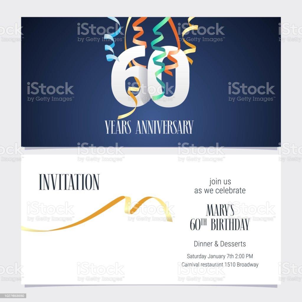 https www istockphoto com fr vectoriel vecteur dinvitation anniversaire 60 ans gm1027653550 275514486