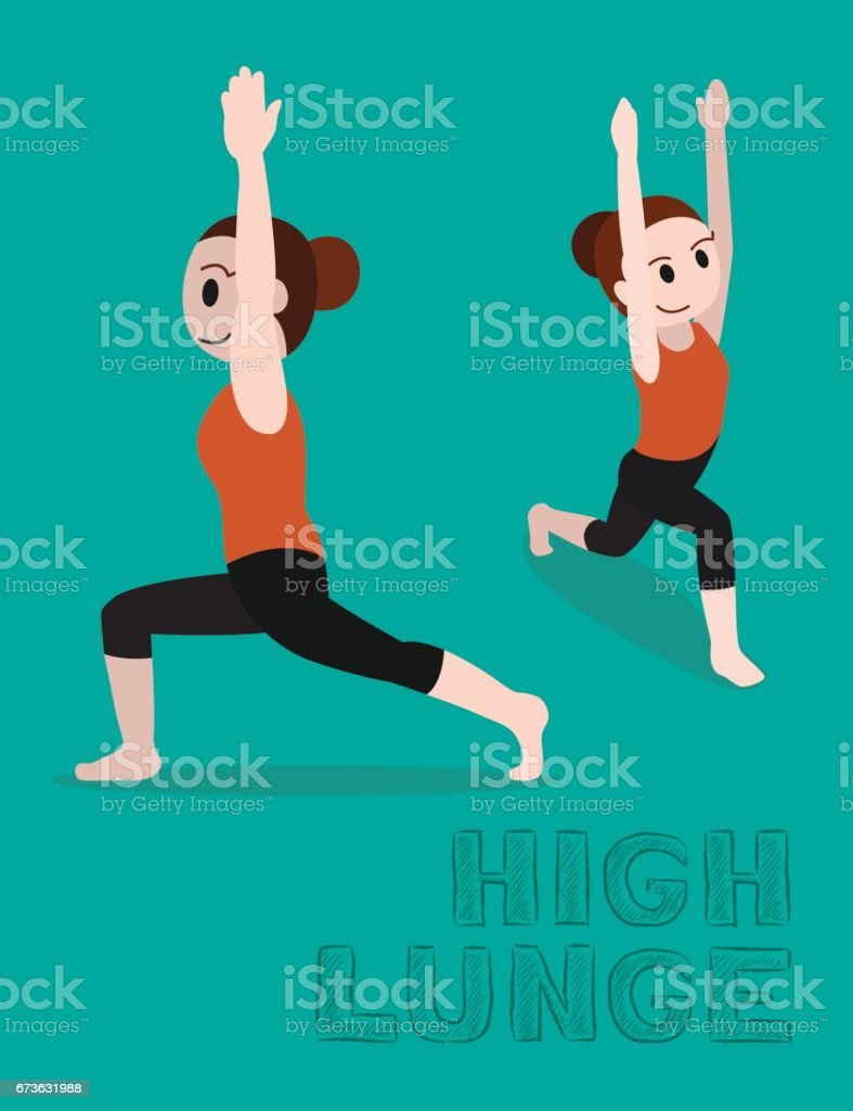 Lunging Pregnant Clip Art