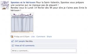 Teasing facebook Spontex