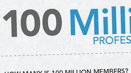 Infographie : LinkedIn compte 100 millions de professionnels