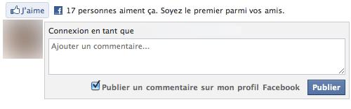 """Le plugin social """"Comments Box"""" par Facebook"""