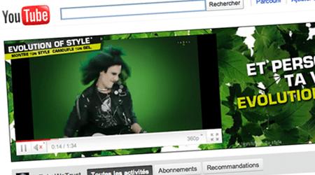 Garnier fait évoluer votre style sur YouTube