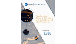 Transforming business operations with AI, IoT data, and edge computing