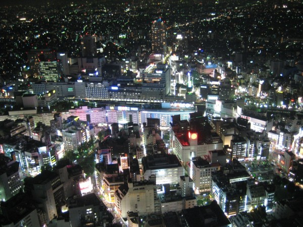 Ikebukuro Station at night. Source.