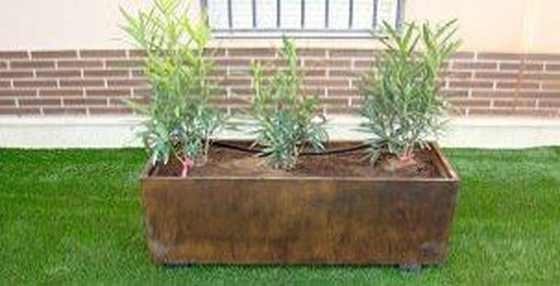 jardiniere rectangulaire en beton 100 de large