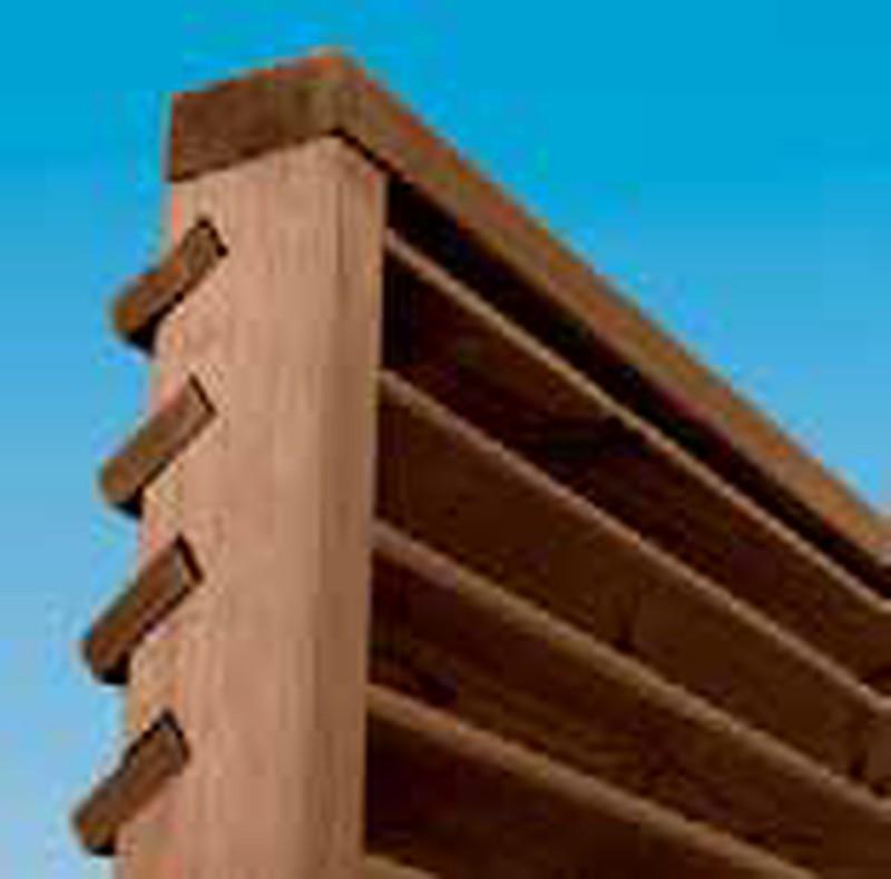 cloture type persienne en bois arifi