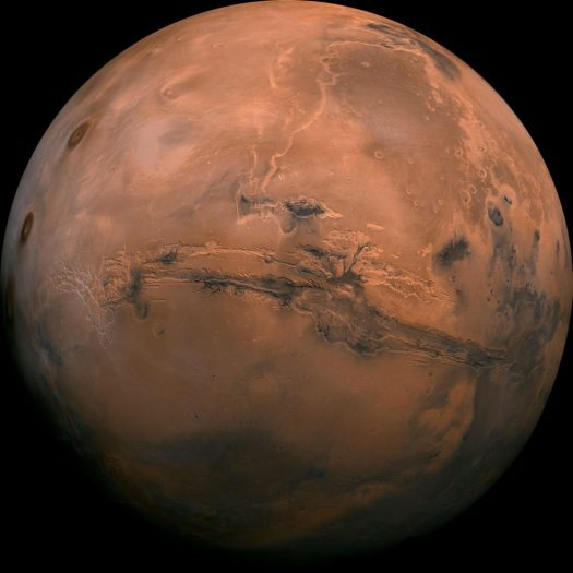 A high resolution image of Mars