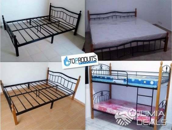 des lits en fer 1 2 3 places